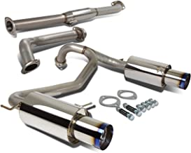 For Tiburon Catback Exhaust System 4 inches Dual Path Burn Tip Muffler - GT SE V6