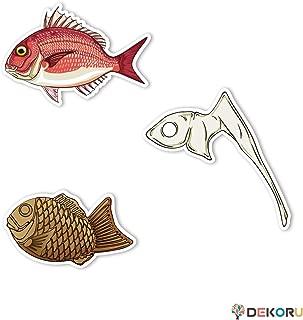 ステッカー アウトドア フィッシング お魚ステッカー 3種セット12 真鯛 鯛の鯛 タイヤキ