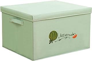 Swadal Boîte de rangement en tissu Oxford - Panier de rangement pliable - Motif cartoon - Vert