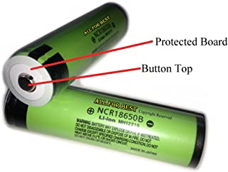 AllForBest Button Top/Protected Board/OEM Authentic Panasonic NCR18650B /3400mAh/18650-Battery/For Flashlight