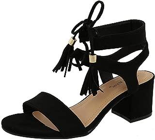 Women's Tassel Stacked Block Heel Gladiator Sandal
