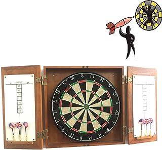 CHUTD Dartboard, professionellt dartset, 45 cm dubbelsidig dartbräda, med 6 magnetdart, turneringsstorlek inomhus hängande...