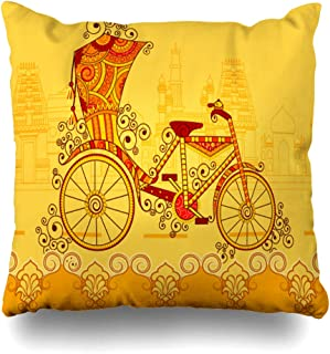 Pakaku Decorativepillows Case Throw Pillows Covers for Couch/Bed 16 x 16 inch, Indian Art Style Home Sofa Cushion Cover Pillowcase Gift Bed Car Living Home Hidden Zipper Design and Polyester