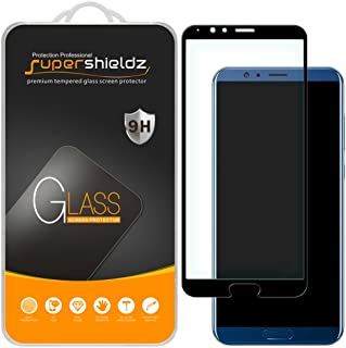 (2 Pack) Supershieldz for Huawei Honor V10 Tempered Glass Screen Protector, (Full Screen Coverage) Anti Scratch, Bubble Free (Black)
