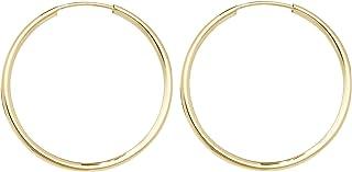 Orecchini a Cerchio da Donna Oro giallo 9k - 12, 16, 20, 25, 30, 37, 57, 67, 82mm WJS3858