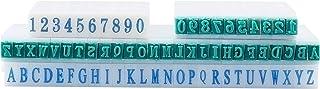 CHGCRAFT 36pcs Plastic Detachable Letter A-Z Number 0-9 Digits Combination Stamp Set Rectangle White