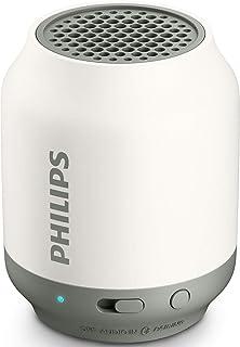 Caixa de Som Portátil Philips BT50W/00 Bluetooth Speaker Branco/Cinza
