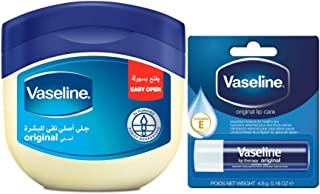 Vaseline Petroleum Jelly Original, 450 ml With Lip Balm