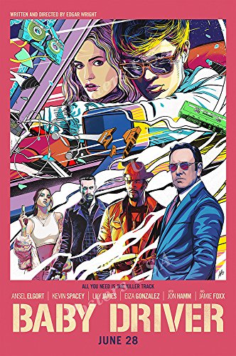 Posters USA - Baby Driver Movie Poster GLOSSY FINISH - FIL552 (24' x 36' (61cm x 91.5cm))