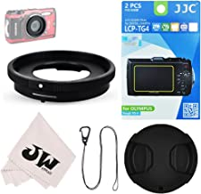5in1 Accessories Kit for Camera Olympus Tough TG-6 TG-5 TG-4 TG-3 : Lens Adapter Filter Adapter as CLA-T01 + 2Pcs Screen Protector + 40.5mm Lens Cap + Lens Cap Hook Keeper + Microfiber Cleaning Cloth
