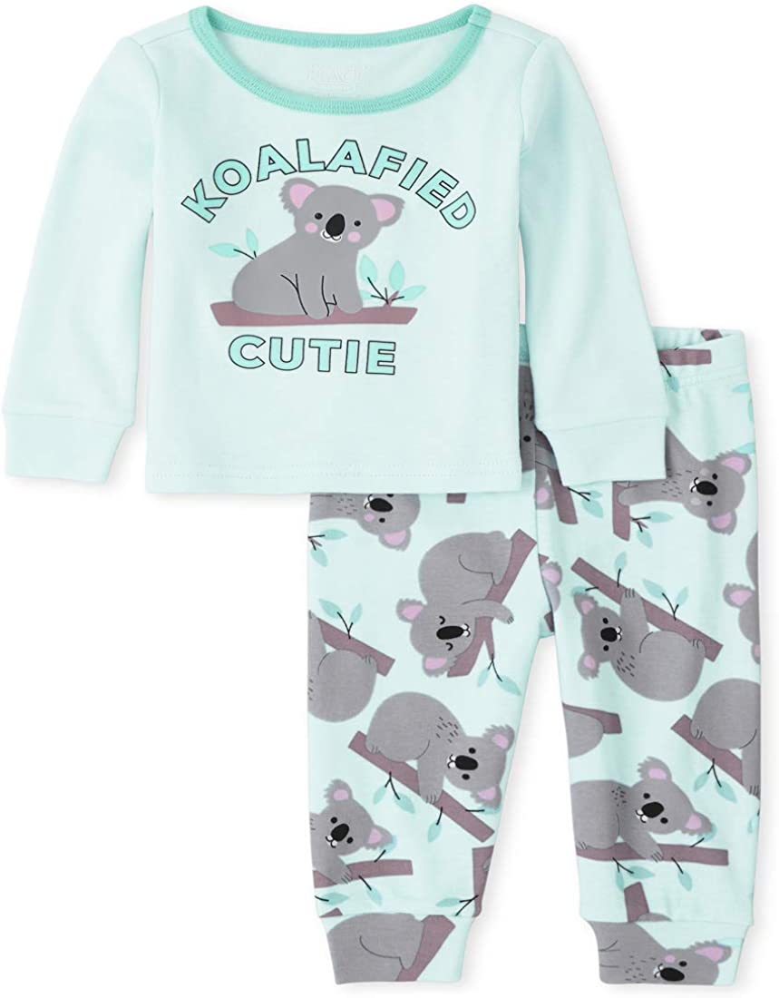 The Children's Place Girls' Baby and Toddler Koala Snug Fit Cotton Pajamas