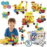 VATOS Bloques de Construcción Stem Toy 316 Pcs Juguete de Construcción Creativa Juguete de Aprendizaje Bloques de Ingeniería Educativa para Niños de 3 a 10 Años y Niñas Mejor Regalo para Niños