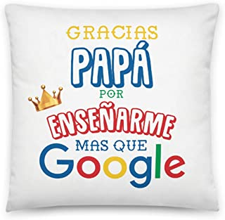 Kembilove Cojín para Padre – Cojines con Frases Graciosas para Padres Gracias Papá por enseñarme mas Que Google – Regalos ...
