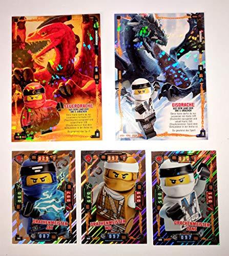 Ninjago XXL Karten 5 Stück + Bonus (Set 3 Drachen)