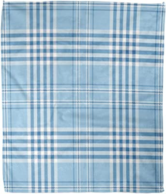 Amazon Com Touch Of Europe Navy Blue White Plaid Check