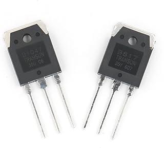 Baomain 2 Pack D1047 + B817 200V 12A Silicon Power Transistors