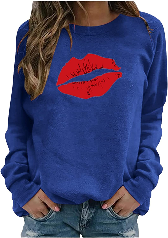 Long Sleeve Shirt Women, Womens Cute Sun Printed Creweck Long Sleeve Sweatshirt Casual Loose Pullover Blouses