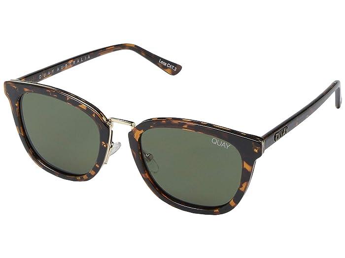 Retro Sunglasses | Vintage Glasses | New Vintage Eyeglasses QUAY AUSTRALIA Run Around TortoiseGreen Fashion Sunglasses $55.00 AT vintagedancer.com
