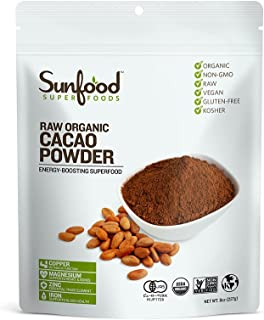 サンフードスーパーフーズ(Sunfood Superfoods) オーガニックカカオパウダー 227g 【有機JAS認証付】 国内正規品