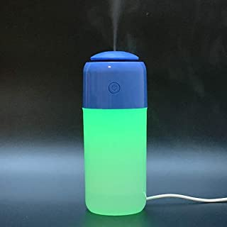 Car Humidifier   Mini Diffuser with Cool Mist   Nanum   Small Air Refresher for Home Office Desk Car Bedroom Vehicle Travel (blue)