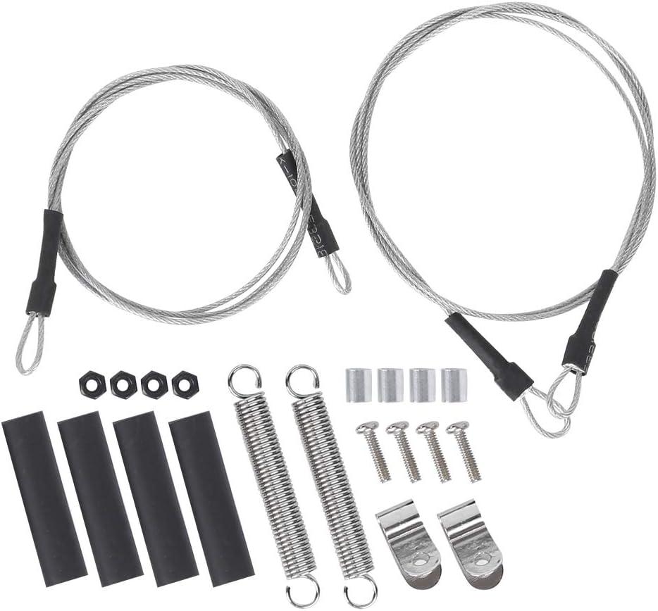 Dilwe Cuerda de Acero para Coche RC, Juego de Cuerdas de Acero para Carcasa de Coche RC de Metal Duradero Apto para Traxxas Trx4 Axial Scx10 D90 D110 1/10 Accesorio de Modelo de Coche sobre orugas