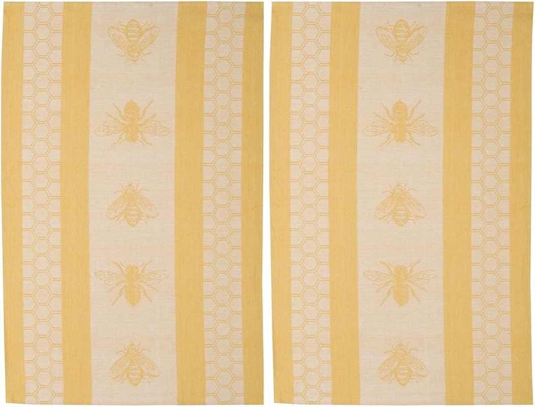 Now Designs Teatowel Honeybee Jacquard Set Of 2
