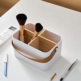 Make-up Doos Cosmetische Opbergdoos, Desktop-organizer met 4 Compartimenten, Make-up Organizer met Draagbaar Handvat, voor...
