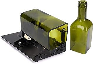 HALOVIE Glazen Flessensnijder Kit voor het snijden van wijnbier Whiskey Alcohol Champagne met Glas Cutter Tool Kit Zwart/U...