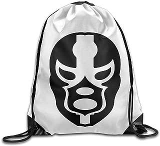 Black Mask Pattern Hollywood Undead Mask Cinch Pack Shoulders Drawstring Backpack