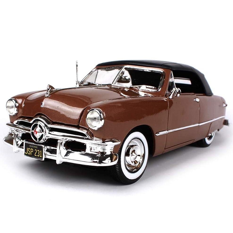 1:18シミュレーション合金車モデルアメリカの筋肉レトロクラシックカーコレクションクラフト装飾装飾品高品質ゴムタイヤ LFOZ (Color : Brown)