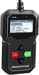 OBD II Code Reader Yafex KW590 OBD2 Diagnostic Scanner Full OBD EOBD Functions Car Check Engine Light Diagnostic Tool for ...