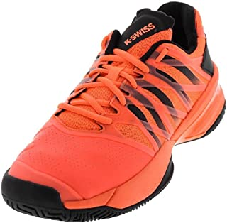 K-Swiss-Men`s Ultrashot Tennis Shoes Neon Blaze and Black 7.5