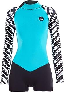 GlideSoul 2mm Springsuit Back Zip Long Sleeve Vibrant Stripes