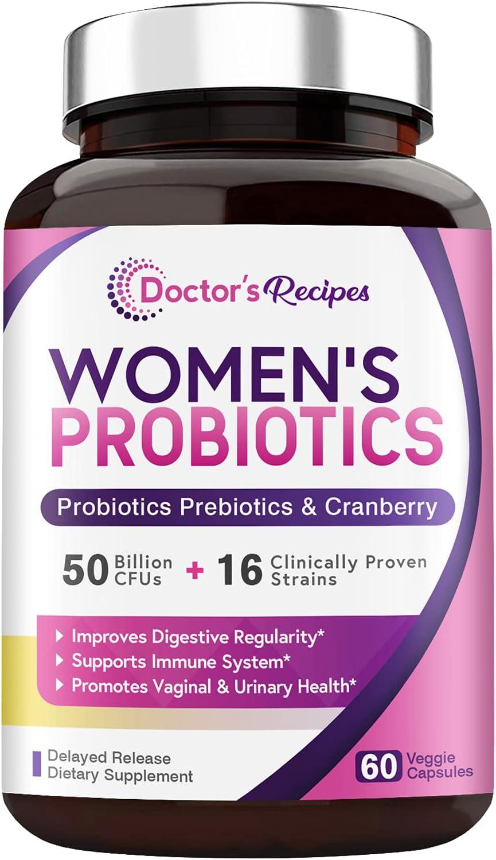 Ranking TOP3 Doctor's Recipes Women's Probiotic 60 50 CFU price Caps Billion