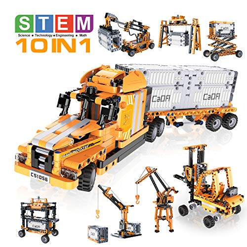 LDIRC 10 in 1 STEM Remote Control Building Block Intelligent Robot kit The Best DIY Creative Engineering Science Education Building Block Toy kit Suitable for 6-7-14 Year Old Children's Toy Gifts
