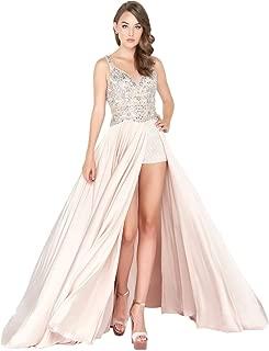 Mac Duggal Womens Prom Embellished Romper