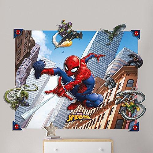 Spider-Man 3D Pop Out Wall Decoration, Paper/Card, Multi-Colour, 152 x 1 x 121 cm