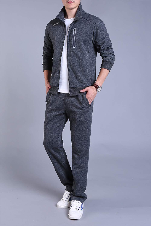 D-BuLun 丹步伦 秋冬季长袖外套长裤两件套 立领宽松棉面料男士运动休闲套装 休闲百搭男套装(单件可售) XDJP-SWL1817