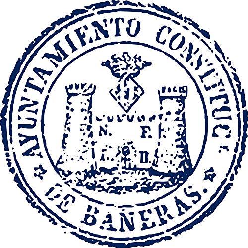 magFlags Bandera Large Segell Ajuntament de Banyeres AHN, 1876 | Segell de l Ajuntament de Banyeres de Mariola | 1.35m² | 120x120cm