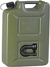 hünersdorff Kraftstoff-Kanister Profi 20L für Benzin, Diesel und Andere Gefahrgüter, Un-Zulassung, Made in Germany, TÜV-geprüfte Produktion, oliv