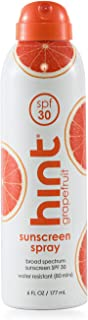 Hint Sunscreen Spray Water Sun All Skin Types 6 fl oz