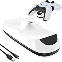 $30 » LVGOD Charging Station Dock for Playstation 5 Controller Fast Charging Charger Stand Holder Base for PS5 Controller,White