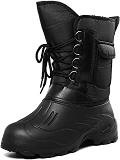 feelingood Mens Boots,Winter Snow Boots Waterproof Insulated Outdoor Hunting Hiking Shoes