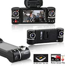 Indigi F6+ Car DVR 1080P HD 2.7-inch Color LCD Dashcam Car DVR [ Dual Rotating Lens + Motion Activate + File Protection + Loop Recording ]