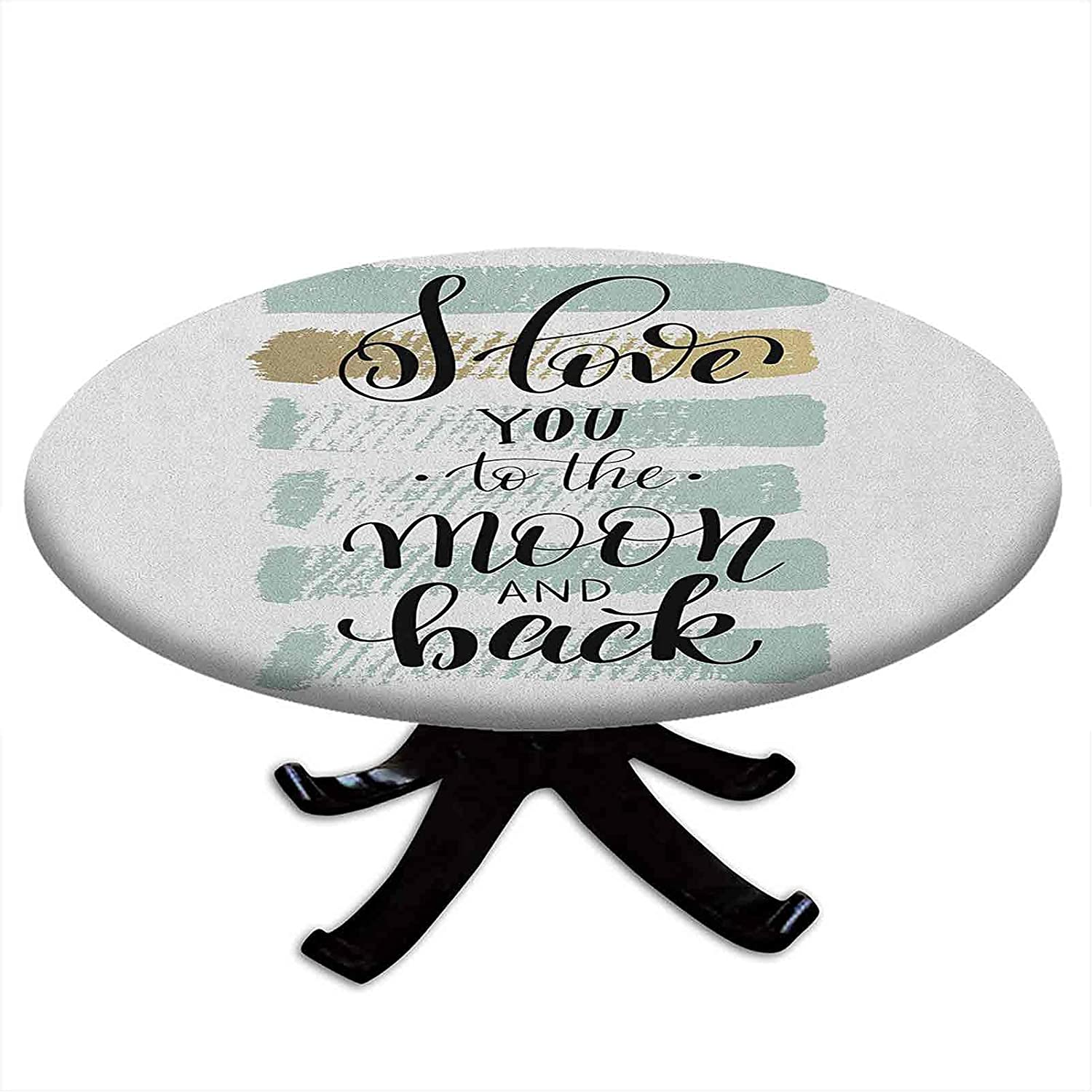 Round Financial sales sale Fitted I Love You Tablecloth to B Moon and The Cheap sale