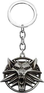 سلسلة مفاتيح الذئب SEIRAA هدايا عشاق الذئب قلادة ميدالية رئيس الذئب