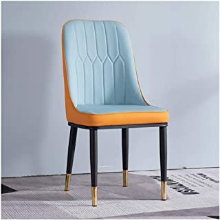 Wuzhengzhijia Inicio Artificial Comedor de Cuero Golpe Silla de la Cocina Color de Moda de la Silla, cómoda Hinchable fácil sillón Limpia (Color : B)