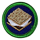 S'Mores Novelty Merit Badge- 1.5' Embroidered Patch with Adhesive Backing