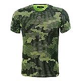HYDROGEN Camiseta para hombre Tech Camo, Hombre, amarillo y