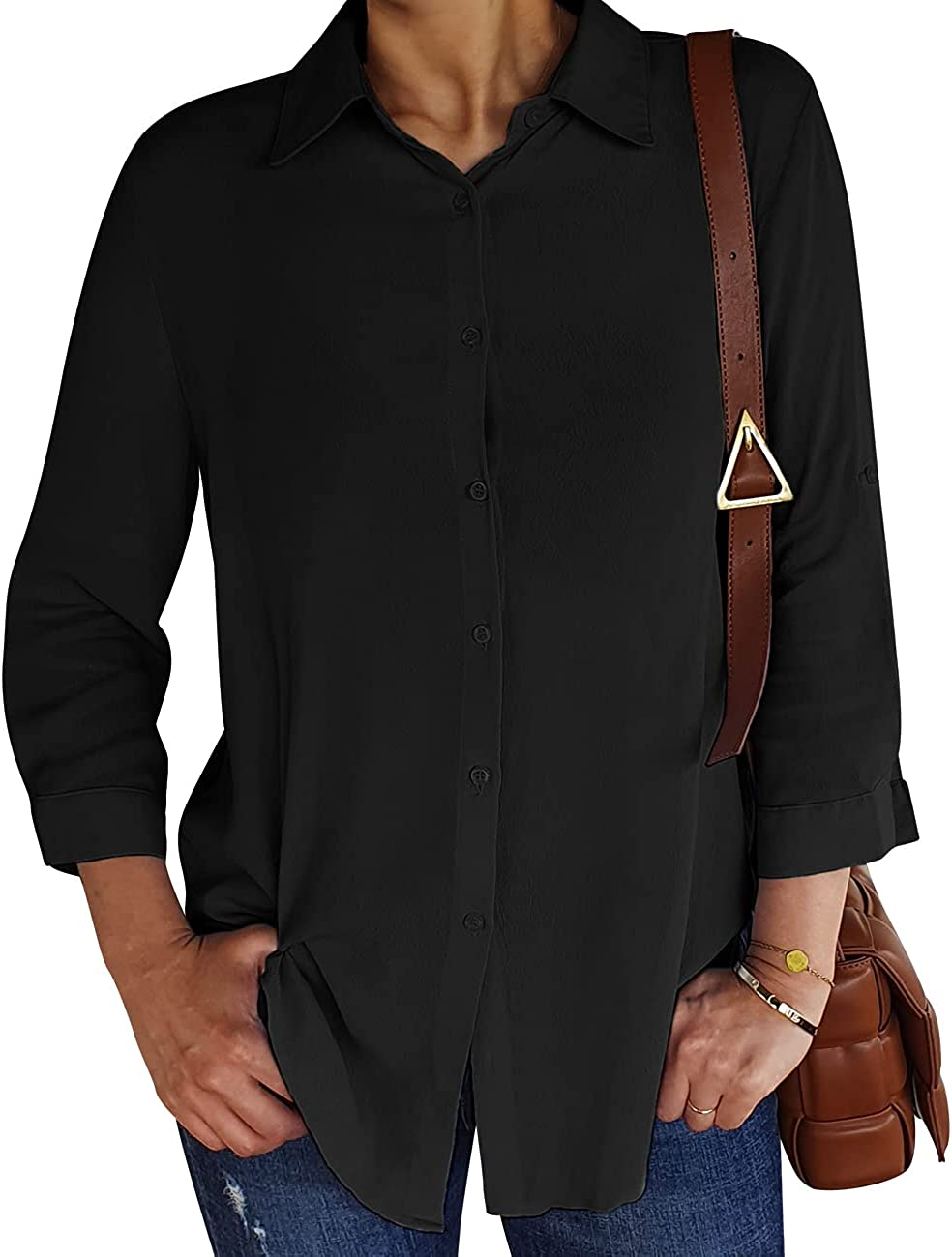 EZEN Loose-Fitting Comfort 4 3 Free shipping anywhere in the nation Long Ca Down Button Sleeve Courier shipping free Shirts